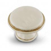 WPO.6000.030.00V5 Ручка-кнопка D30мм cлоновая кость/золото винтаж