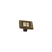 Ручка-кнопка, отделка бронза матовая + вставка 10.813.C28-105