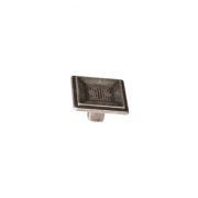 Ручка-кнопка, отделка серебро античное 10.820.C17