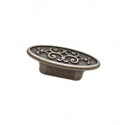 Ручка-кнопка, отделка серебро старое 24134Z07300.25