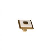 Ручка-кнопка, отделка бронза античная французская + вставка 10.821.C25-102