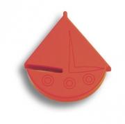 604RJ Ручка кнопка детская, кораблик красный