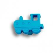 605AZ Ручка кнопка детская, паровозик синий