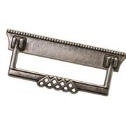 Ручка-скоба 96мм, отделка серебро старое 06144Z09600.25