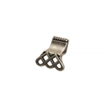 Ручка-кнопка, отделка серебро старое 15144Z03800.25