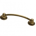 Ручка-скоба 96мм, отделка бронза античная красная 9.1297.0096.23