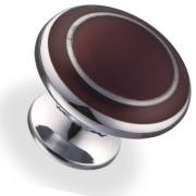 Ручка кнопка металл/древ.смола 32х25,5 мм 6116-L-AH