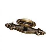 Ручка-кнопка с накладкой, отделка бронза античная 10.711.B20
