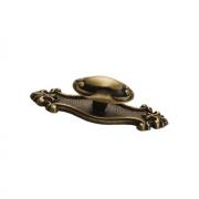 Ручка-кнопка с накладкой, отделка бронза матовая 10.711.C28