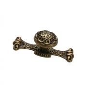 Ручка-кнопка с накладкой, отделка бронза античная 10.718.B20