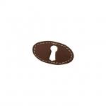 Накладка горизонтальная под ключ, отделка кожа 30150.04700.G1