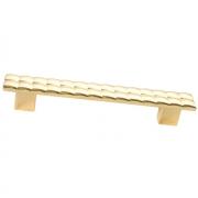 Ручка-скоба 128мм, отделка золото глянец 6141/100