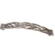 Ручка-скоба 128мм, отделка старое серебро с блеском WMN.638X.128.M00E8
