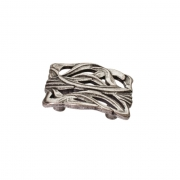 Ручка-скоба 32мм, отделка старое серебро с блеском WPO.638X.032.M00E8