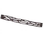 Ручка-скоба 224мм, отделка никель глянец чёрный 12793.F500.G