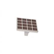 Ручка-скоба 32мм, отделка никель глянец + шоколад 24200Z0520N.G32