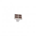 Ручка-кнопка, отделка никель глянец + шоколад 24200Z0270N.G32