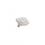 Ручка-скоба 32мм, отделка никель глянец + белый (крокодил) 24064E0525B.32
