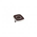 Ручка-скоба 32мм, отделка никель глянец + тёмно-коричневый (кайман) 24064E0522A.32