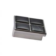 Ручка-скоба 32мм, отделка никель глянец + оникс 24305Z0570B.32