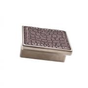 Ручка-скоба 32мм, отделка никель глянец + тёмно-коричневый (кайман) 24206E0572A.32