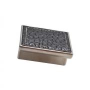 Ручка-скоба 32мм, отделка никель глянец + чёрный (кайман) 24206E0574A.32