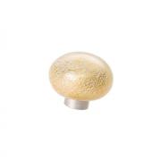 Ручка-кнопка из стекла, отделка фольга + золото 24EM.009037.BO