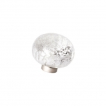 Ручка-кнопка из стекла, отделка фольга серебро 24EM.009037.CA