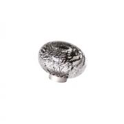 Ручка-кнопка из стекла, отделка фольга чёрная + серебро 24EM.009037.NA