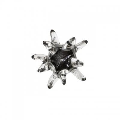 Ручка-кнопка из стекла, отделка чёрная 24EM.007060.NI