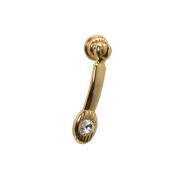 Ручка-серьга, отделка золото 24 + горный хрусталь 5.348.B14