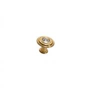 Ручка-кнопка, отделка золото 24 + горный хрусталь 10.790.C14
