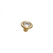 Ручка-кнопка, отделка золото 24 + горный хрусталь 10.778.B14