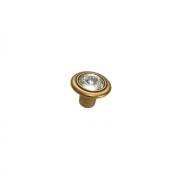 Ручка-кнопка, отделка бронза античная французская + горный хрусталь 10.778.B25
