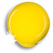 626AM Ручка кнопка, выполнена в форме шара, цвет желтый глянцевый