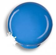 626AZM Ручка кнопка, выполнена в форме шара, цвет голубой глянцевый