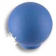 626AZX Ручка кнопка, выполнена в форме шара, цвет голубой матовый