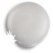 626BL Ручка кнопка, выполнена в форме шара, цвет белый глянцевый