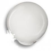 626BL1 Ручка кнопка, выполнена в форме шара, цвет белый глянцевый