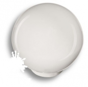 626BL2 Ручка кнопка, выполнена в форме шара, цвет белый глянцевый