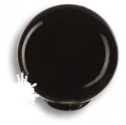 626NE1 Ручка кнопка, выполнена в форме шара, цвет черный глянцевый