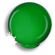 626VE Ручка кнопка, выполнена в форме шара, цвет зеленый глянцевый