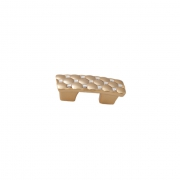 Ручка-скоба 32мм, отделка золото глянец + горный хрусталь WPO.640X.032.MKRGP