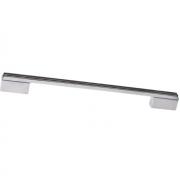 Ручка-скоба 224-192мм, отделка хром глянец + чёрный глянец 8.1092.224192.40-53