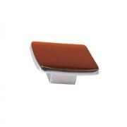 Ручка-кнопка 16мм, отделка хром глянец + тёмно-оранжевая смола 217.359-9603/6600