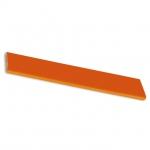 Ручка-скоба 160мм, отделка хром глянец + оранжевый пластик 217.689-2015/9603