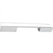 Ручка-скоба 160-224мм, отделка хром глянец + белый пластик 217.579-2010/9603