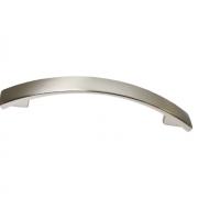Ручка-скоба 160-128мм, отделка никель глянец шлифованный 8.1075.160128.34
