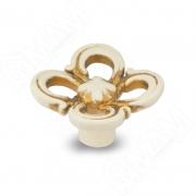 WPO.636.031.00V5 Ручка-кнопка cлоновая кость/золото винтаж