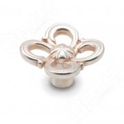 WPO.636.031.00M5R Ручка-кнопка серебро Венецианское розовое